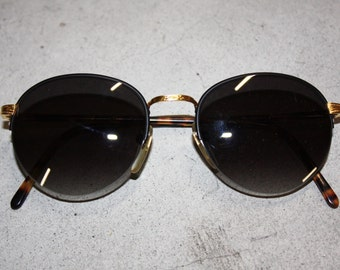 STING round pantos sunglasses tortoise  with gradient black lenses, made in Italy 90s