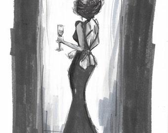 An Evening Out - Original Sketch