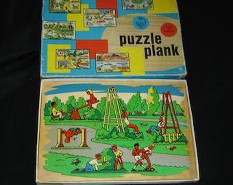 Kolibri Old wood plank puzzle Holland vintage. De Speeltuin spielplatz Raadsel. Nederland