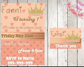 Princess Birthday Invitation