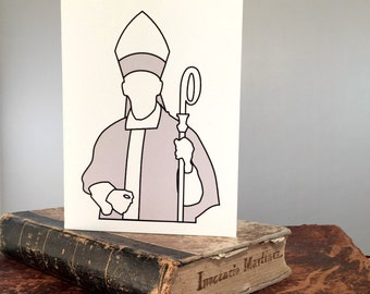 Funny Bishop Card - Funny Jesus, Religious Funny, Jesus Humor, Snarky Greeting Card, Funny Religious, Jesus Greeting Card, Snarky, Bishop