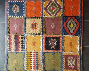 Tazenakht Moroccan Rug, Highly colorfoul.
