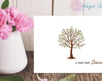 Personalized Stationery / Custom Stationery / Spring Stationery Set / Custom Spring Stationery / Adult Stationery / Set of 12