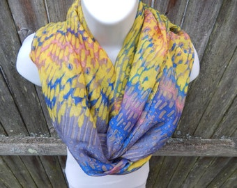 Watercolor Infinity Scarf