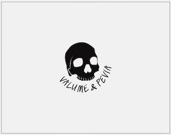 Premade Logo Design // Simplistic Logo // Photographer Logo // Premade Watermark // Skull Logo