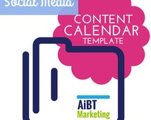 Social Media Content Calendar Easy to use  Excel Template