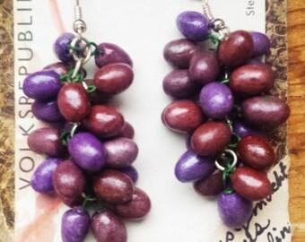 Purple Grapes Earrings