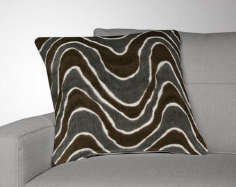 set of 2 velvet throw pillow covers gray brown pillow covers gray pillow covers