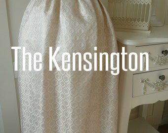 "The Kensington Gold Brocade Christening Gown. Handwoven English Silk Baptism Dress. 36"" long,  22"" Chest - fits 6-12mths. 1 Only"