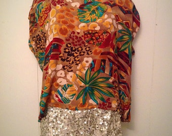 90's tropical jungle theme top