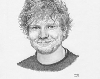 ED SHEERAN Limited Edition art drawing print signed by UK artist