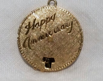 Vintage Anniversary Charm With Adjustable Date Dials