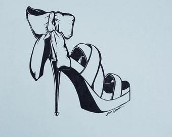 Fashion Illustration Shoes Fashion Heels Red Heels High