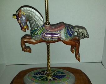 Amoured Porcelain Carousel Horse