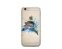 Watercolor Dolphin iPhone 6 6S Case Clear Silicone iPhone 6 6S Plus Case Transparent TPU Samsung Galaxy S5 S6 Case iPhone 4 5 5S 5C Case 113