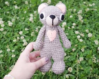 Crochet Bear amigurumi toy, stuffed toy, plush Bear toy, stuffed animal, crochet amigurumi plushie
