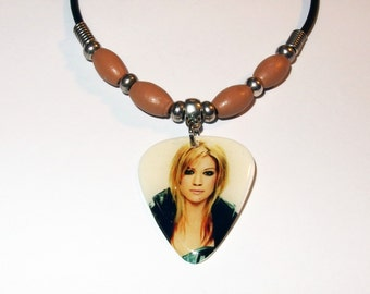 Kelly Clarkson Photo Guitar Pick Necklace