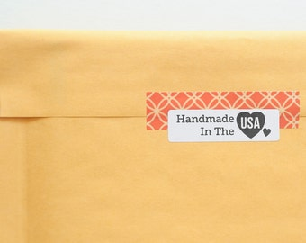 Printable Stickers - Made in the USA - Small Business Stickers - Handmade Tags - Product Packaging Stickers - America Made - USA Labels