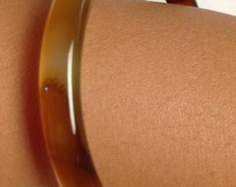 Bangle Bracelet Brown Agate 50mm