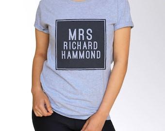 Richard Hammond T Shirt - White and Gray - S M L