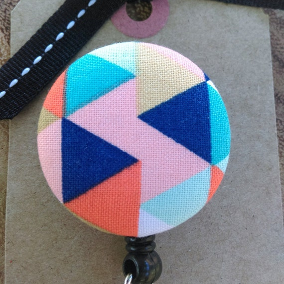 Badge Reel - Retractable ID Badge Holder-Triangles