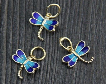 2 Sterling Silver dragonfly charms