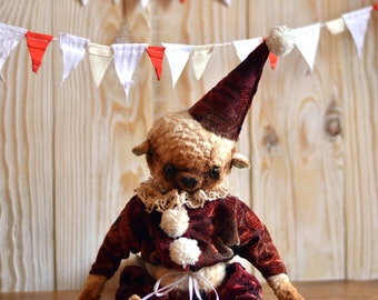 Free Shipping Teddy, artist teddy bear, teddy bear, Ooak Teddy Bear, Stuffed Bear, Plush, stuffed plush bear, Stuffed Animals, gift for her
