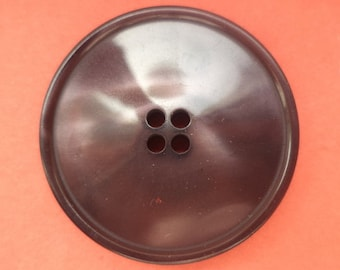 5 large buttons dark brown 31 mm (5042)