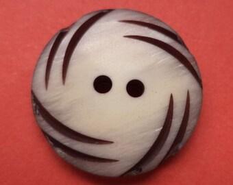 Beige dark brown 8 buttons 21mm (1265) button