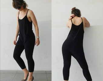 Black Jumpsuit/Baggy Jumpsuit/Minimal Jumpsuit/Jersey Jumpsuit/Woman Jumpsuit/ Girl Jumpsuit/ All season Jumpsuit/ Sexy /Black Roomper