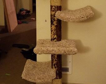 Custom built cat tree
