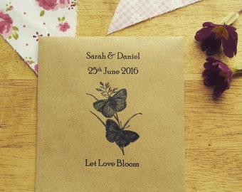 Wildflower Seed Favour Butterfly Pair