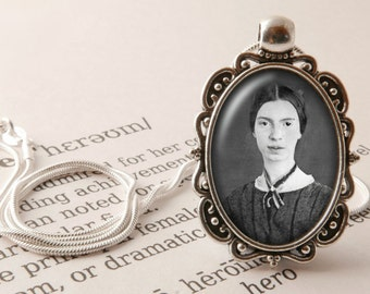 Emily Dickinson Pendant Necklace - Poetry Jewelry, Literary Pendant, Gift for Reader, Emily Dickinson Jewellery