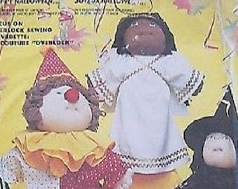 "McCall's 2206 Joyeux Halloween Costumes for Cabbage Patch Dolls (Sz 12,16,18"") Uncut"
