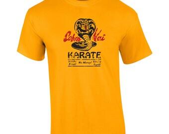 Cobra Kai Karate 80s movie sweep the leg kid retro costume party - Apparel Clothing - Mens T-shirt - 147