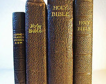 The Holy Bible & the Book of Common Prayer - 4 copies - Dated 1895, 1910, 1936 - in good condition