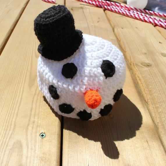 Crochet Snowman Baby Cocoon Pattern : Snowman Cocoon with Hat Crochet Pattern Newborn Snowman
