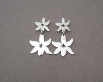 Edelweiss silver earrings