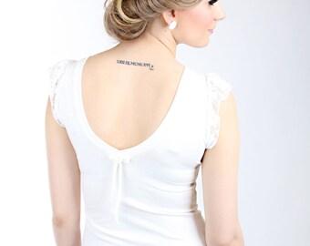 "MEKO ""Wow"" top backless ladies white lace wedding"