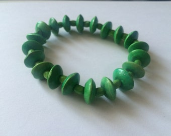 Round Wooden Bead Bracelet