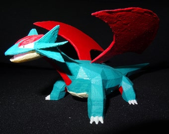 Salamence, Pokémon 3d Printed  and hand painted
