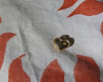 stunning vintage 10k gold puffy heart charm
