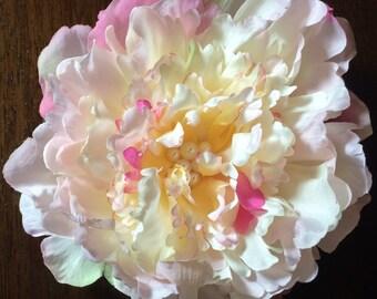 """6"""" Peony Hair Clip Flower"""
