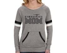 Gymnastics Mom Gift, Team Mom Gift, Ladies Gymnastics Sweatshirt, Gymnast Mom, Gymnastics Shirt, Gym Mom Chevron Flashback