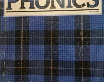 Vintage Phonics Workbook...1988...School workbook; homeschool reference; phonics practice