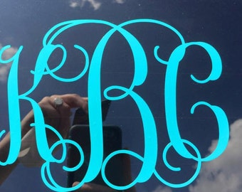 Vine Monogram Car Decal