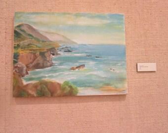 """Californis Landscape, oil painting, 18""""X24"""""""