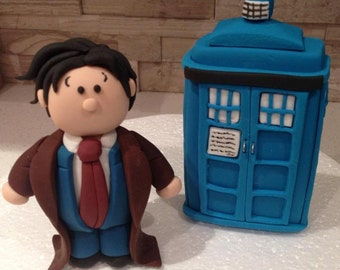 Dr Who and Tardis Cake Topper