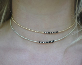 Choker with Black Accent - Each Sold Separately