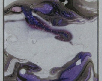 Storm Clouds - Water Marbled Microscope Slide